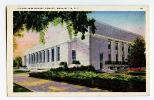 Postcard Folger Shakespeare Library Washington D. C. Standard View Card