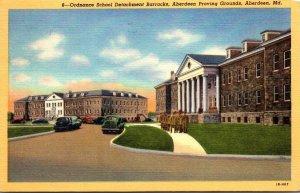 Maryland Aberdeen Proving Grounds Ordnance School Detachment Barracks 1952 Cu...