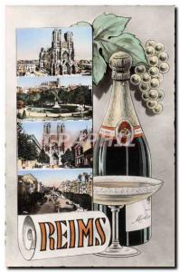 Modern Postcard Folklore Wine Vintage Champagne Reims