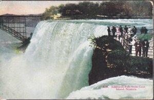 Niagara Falls Canada AMERICAN FALLS seen from GOAT ISLAND, 1920s