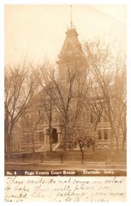 Iowa  Clarinda  , Page County Court House ,  RPC