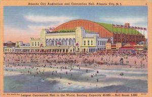 New Jersey Atlantic City Auditorium And Convention Hall 1954