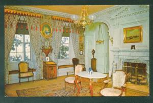 LONGFELLOW HOUSE PARLOR ROOM Cambridge Massachusetts MA Interior Postcard