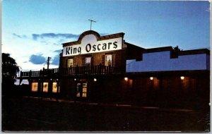 Richfield, Minnesota Postcard KING OSCAR'S RESTAURANT Roadside c1960s Chrome