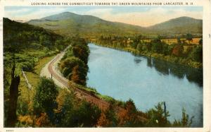 NH - Lancaster. Looking across the Connecticut River to Vermont