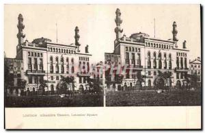 Stereoscopic Card - London - Alhambra Theater - Leichester Square - Old Postcard