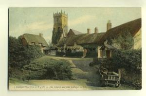 h0193 - Godshill , Church & Cottages , Isle of Wight - postcard LL 3