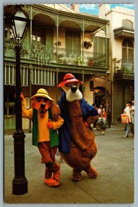 Postcard Anaheim CA c1980s Disneyland Familiar Faces Brer Bear Brer Fox WDW-1500