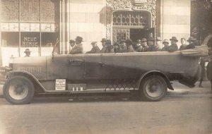 RPPC BAVARIA Tourist Sight-Seeing Car Neue Börse Germany 1925 Vintage Postcard