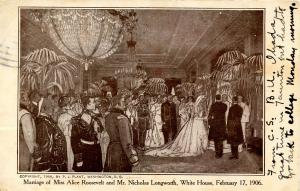 Marriage of Alice roosevelt & Nicholas Longworth at the White House - Februar...
