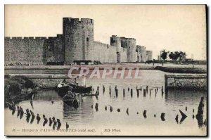 Postcard Old City Walls of Aigues Mortes southern coast