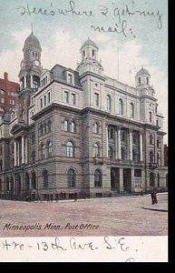 Minnesota Minneapolis Post Office 1906