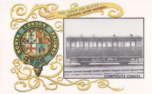 North London Railway Composite Coach Train Postcard