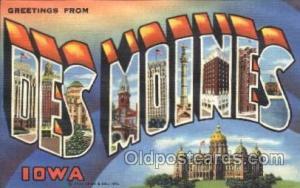 Des Moines, Iowa, Usa Large Letter Town, Towns, Postcard Postcards  Des Moine...