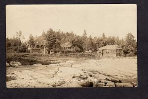 ME Camps Cottages OCEAN POINT MAINE Real Photo Postcard RPPC  1935 PC