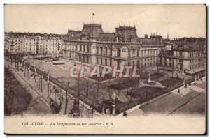 Lyon - The Prefecture and Gardens - Old Postcard