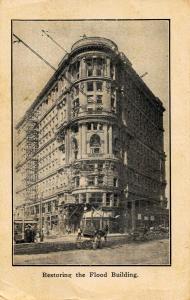 CA - San Francisco. April 1906 Earthquake & Fire. Rebuilding: Restoring the F...