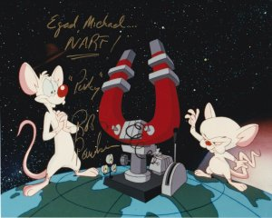 Pinky and the Brain , Autographed Photograph