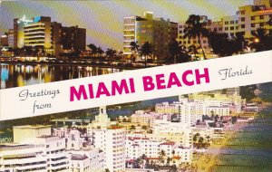 Florida Greetings From Miami Beach Hotel Row