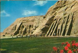 Egypt, Aswan, Abu-Simble temple, 1970s used Postcard