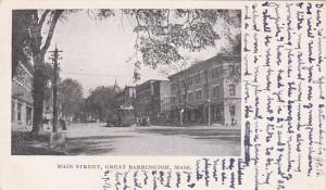 GREAT BARRINGTON, Massachusetts, PU-1906; Main Street, Cable Car
