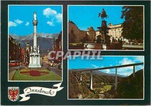 Modern Postcard Innsbruck Tirol Alpenstadt Maria Theresien StraBe Und Mit Bli...