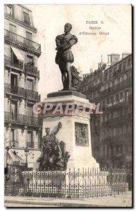 Paris Old Postcard Statue of & # 39Etienne Dolet