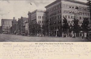 View Of Penn Street From 5th Street Reading Pennsylvania 1907