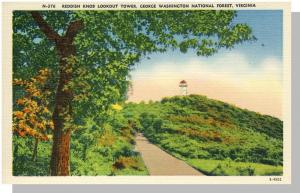 Washington National Forest Virginia/VA Postcard, Knob Tower
