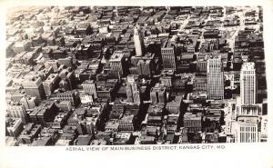 Kansas City MO Birdseye~909 Walnut (Fidelity National Bank & Trust) RPPC 1940s