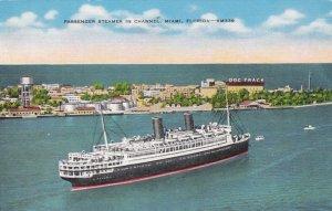 Florida Miami Passenger Steamer In The Channel sk3999