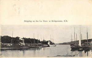 Bridgewater N. S. Canada shipping on the La Have linen antique pc ZD549843