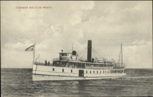Publ in Castine ME - Steamer steamship Sieur de Monts c1910 Postcard