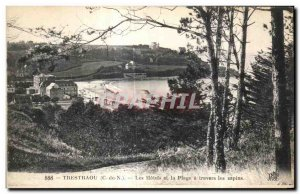 Old Postcard Trestraou La Hotels and Beach Travers was the firs