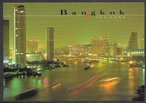 Thailand, Bangkok at night, along river, unused