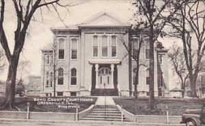 Bond County Court House, Greenville, Illinois, 1910-1920s