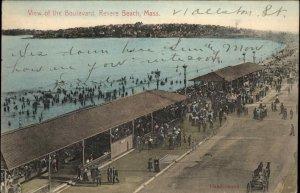 REVERE BEACH MA View of Boulevard c1910 Postcard