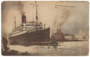 R.M.S. Samaria-Cunard Line-Paquebot(Packet Boat) Cancel