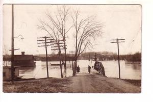 Real Photo, Dayton Ohio Flood as seen at Grand Rapids, Michigan,