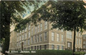 Jackson MI~High School~Created in 1908 with Merger of West & East Side HS~1909