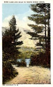 New Hampshire White Mountains North Conway Echo Lake and Road  To White Horse...