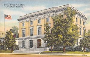 Owensboro Kentucky Post Office Street View Antique Postcard K58195