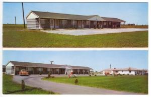 Paulding OH Clearview Motel Old Cars Soda Machine Split View Lodging Postcard
