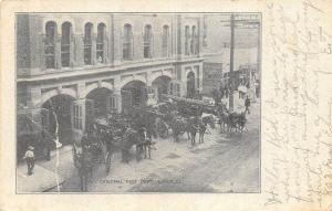 B74/ Lima Ohio Postcard 1907 Fire Department Horse Wagons Fireman Allen Co