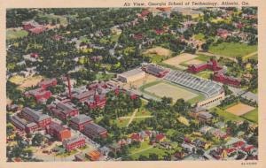 Georgia Atlanta Aerial View Georgia School Of Technology Curteich
