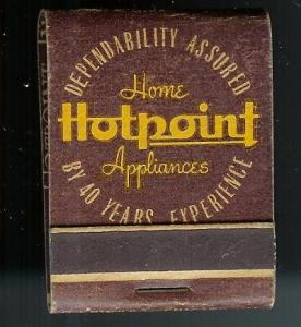 HOTPOINT APPLIANCES 1950's Full Unstruck Matchbook