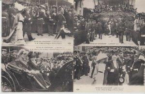 REVUE DE LONGCHAMP ROYAUTÉ  BELGIQUE  10  Cartes Postales 1910