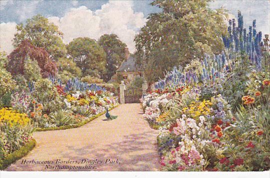 Gardens Of England, Herbaceous Borders, Dingley Park, NORTHAMPTONSHIRE, Engla...