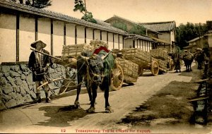 Japan - Transporting Tea in Chests for Export