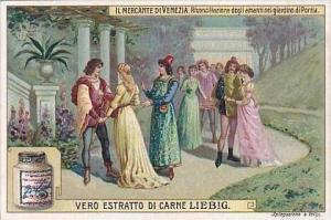 Liebig Vintage Trade Card S939 Merchant Of Venice 1908 No 6